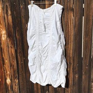 White Gathered Long Skirt Emo Rave Burner